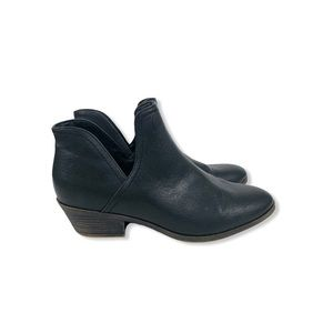 Faded Glory Women's Cut Out Ankle Boots Black 9